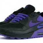 Nike Womens Air Max 90 – Black – Varsity Purple