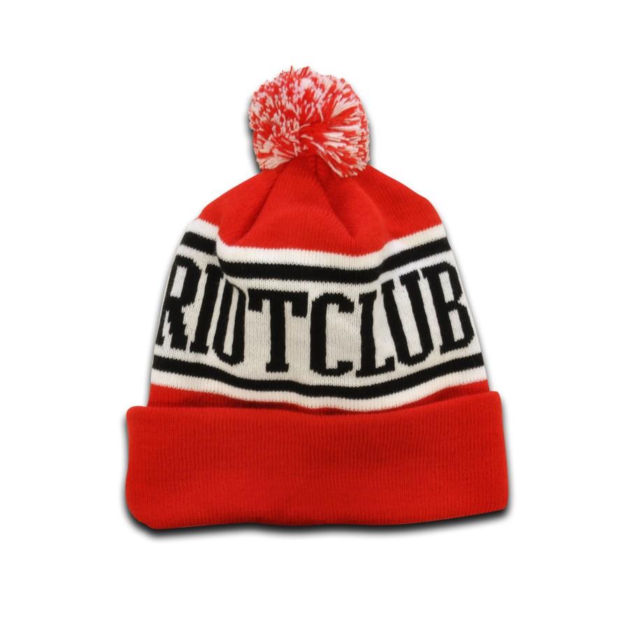 TRC Original Pom Pom Hat Red Black White a17413c3cdb