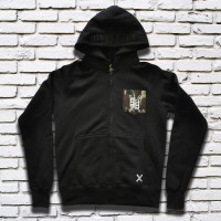 Basic Camo Pocket Hood (Black)
