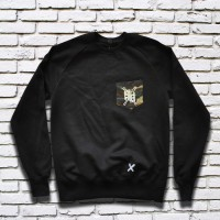 Basic Camo Pocket Crew (Black)