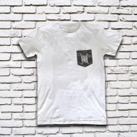 Basic Camo Pocket Tee (White)
