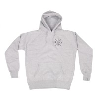 TRC Cross Logo Pullover Hood (Light Heather)