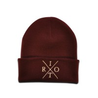 TRC Heritage Knitted Hat Maroon/Cream