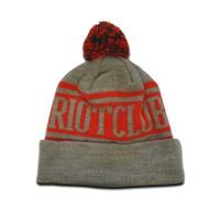 TRC Original Pom Pom Hat Grey/Red